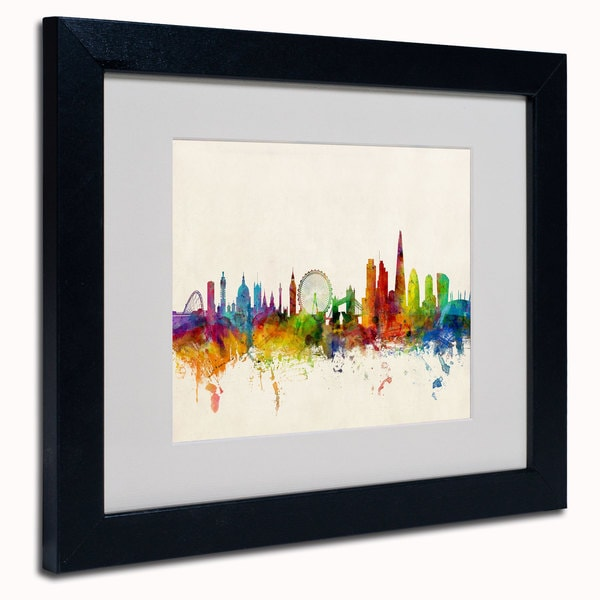 Michael Tompsett 'London England Skyline' Framed Matted Art
