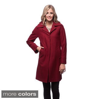 Ellen Tracy A-line Walker with Notch Collar