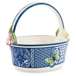 Fitz Floyd Ceramic Courtyard Basket