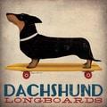 Ryan Fowler 'Dachshund Longboards' Giclee Print