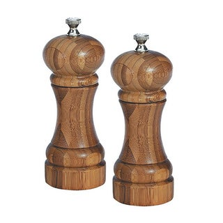 5-inch Bamboo Salt and Pepper Mill Set