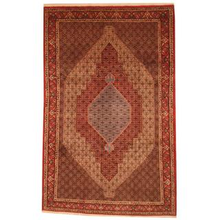 Persian Hand-knotted Moud Bidjar Red/ Ivory Wool Rug (6'7 x 10'4)