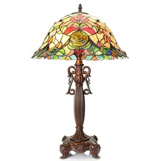 Tiffany Style Grand Clieus Stained Glass Table Lamp