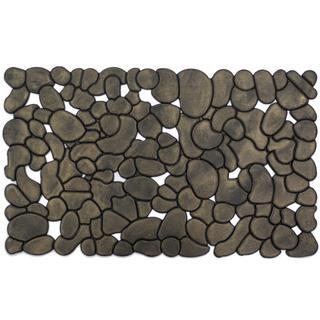 Rubber Stones Grey/ Gold Door Mat
