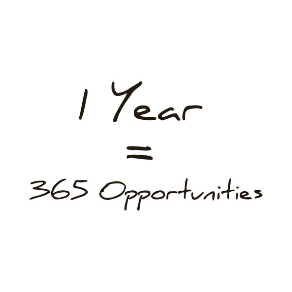 365 Opportunities in One Year Quote Vinyl Wall Art