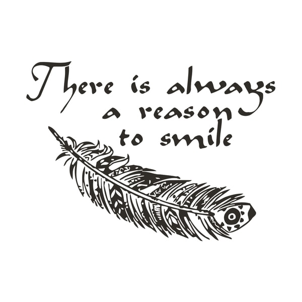 There is Always a Reason to Smile Quote Vinyl Wall Art