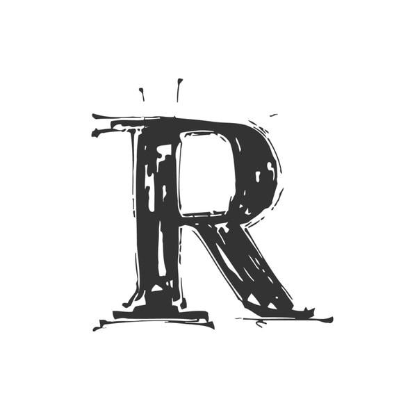 Letter R Vinyl Wall Art