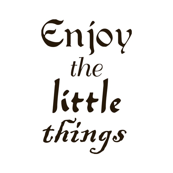 Enjoy Little Things Quote Vinyl Wall Art
