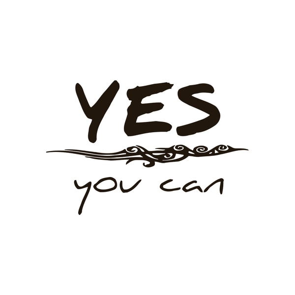 Yes You Can Quote Vinyl Wall Art