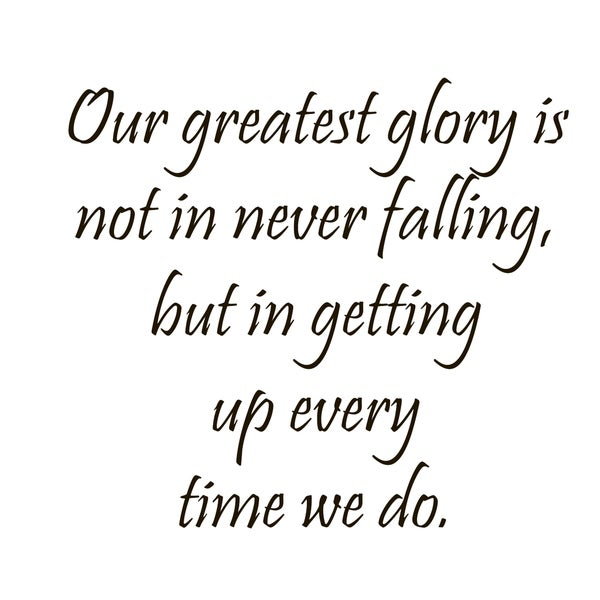 Getting Up After Falling Quote Vinyl Wall Art
