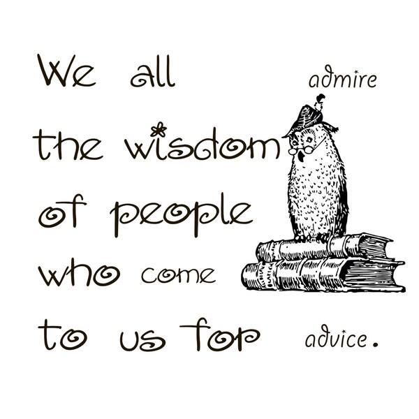 Wisdom of Advise Quote Vinyl Wall Art