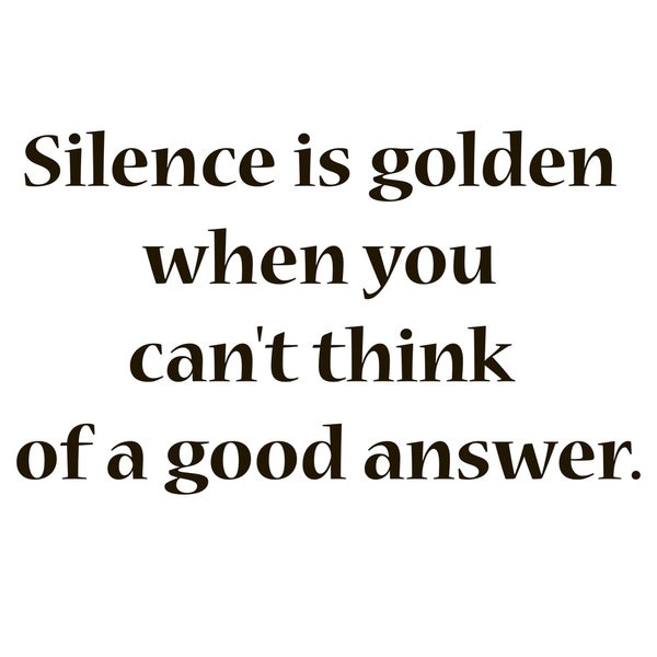 Silence is Golden Quote Vinyl Wall Art
