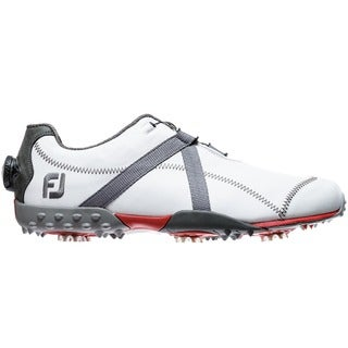 FootJoy Mens Project BOA White/ Charcoal/ Red Golf Shoes