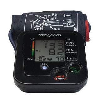 Vitagoods VGP-4111 Black Digital Pulse Desktop Blood Pressure Monitor