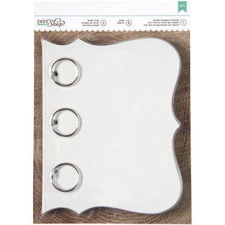 """DIY Shop Chipboard Mini Book-Bracket 6""""X8"""" W/6 Pages & 3 Rings"""