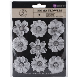 "Luna Paper Flowers W/Bling 1.5"" To 1.75"" 9/Pkg-Limitless"