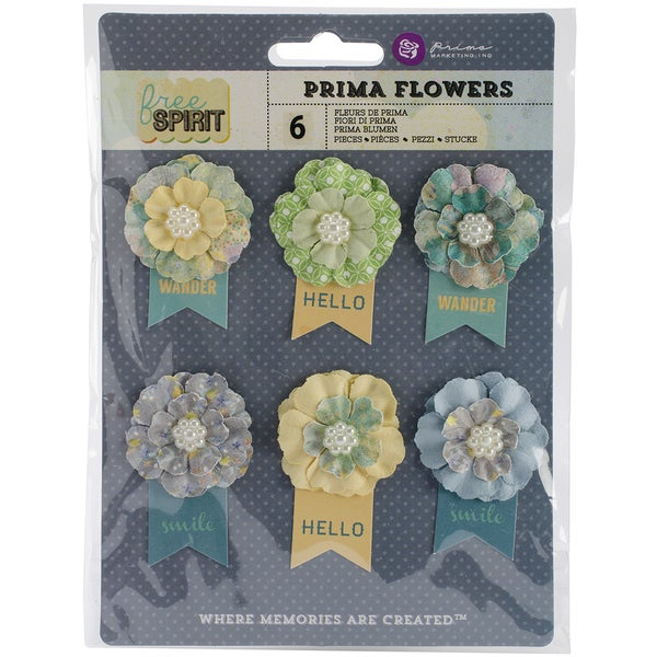 "Free Spirit Flowers-Paper Outta Sight 2.25"" W/Banner 6/Pkg"
