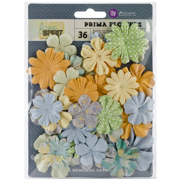 "Free Spirit Flowers-Paper Peace 1.75"" To 2"" 24/Pkg"
