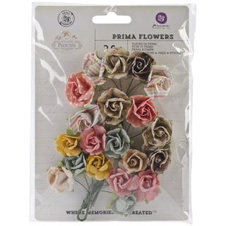 "Princess Flowers-Paper Whimsical .75"" 20/Pkg"