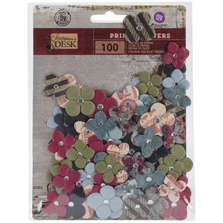 """Stationer's Desk Flowers-Paper Compose .75"""" To 1"""" 100/Pkg"""