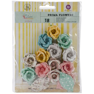 "Bloom Flowers-Paper Radiant Petals 1.25"", 2"" Leaf 18pc"