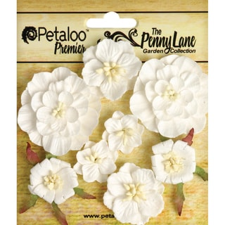 Penny Lane Mixed Blossoms 8/Pkg-White