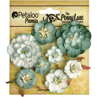 Penny Lane Mixed Blossoms 8/Pkg-Seagreen