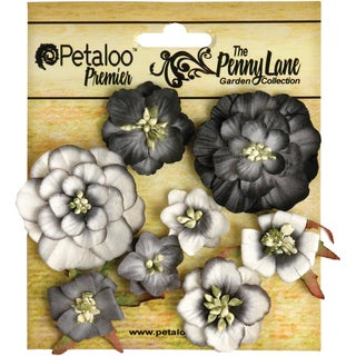 Penny Lane Mixed Blossoms 8/Pkg-Black
