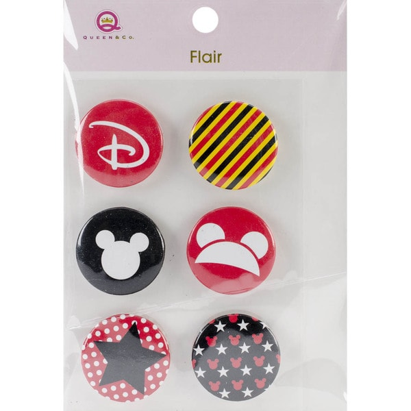 Magic Flair Self-Adhesive Tin Badges 6/Pkg-#1