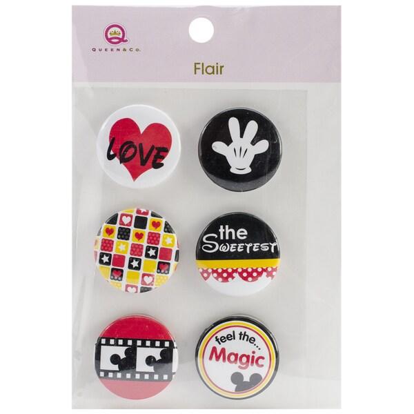 Magic Flair Self-Adhesive Tin Badges 6/Pkg-#2