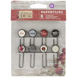 Stationer's Desk Typewriter Key Paper Clips 2in 8/Pkg
