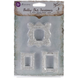 Shabby Chic Treasures Resin Embellishments-Square Frames 3/Pkg
