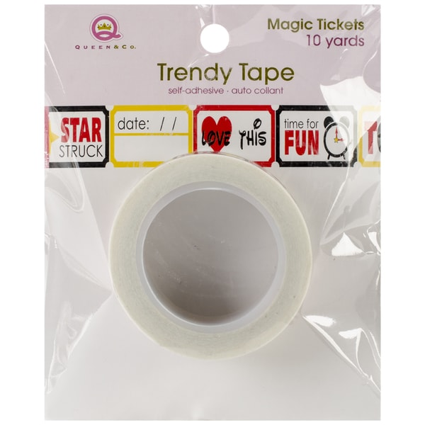 Magic Trendy Tape 15mm X 10yds-Tickets