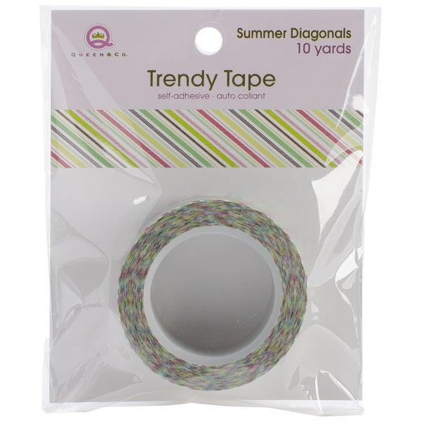 Summer Trendy Tape 15mm X 10yds-Diagonals