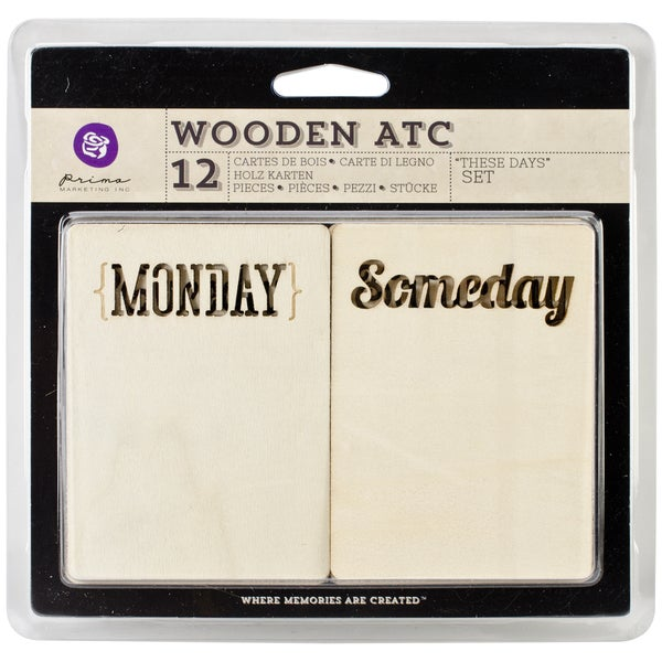 Wooden ATC Cards 10/Pkg-These Days