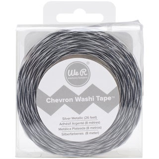We R Chevron Metallic Washi Tape 26 Feet-Silver