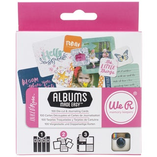 Instagram Albums Made Easy Journaling Cards-Inked Rose 100/Pkg