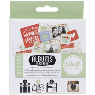 Instagram Albums Made Easy Journaling Cards-Farmer's Market 100/Pkg