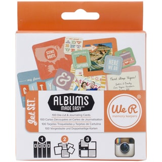 Instagram Albums Made Easy Journaling Cards-Jet Set 100/Pkg
