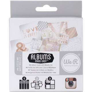 Instagram Albums Made Easy Journaling Cards-Sheer Metallic 90/Pkg