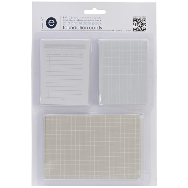 Empire Bebe Foundation Cards 54/Pkg-Grids & Ledgers