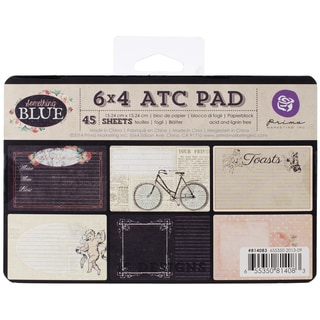"Something Blue ATC Cards 4""X6"" 45/Pad-15 Designs/3 Each"