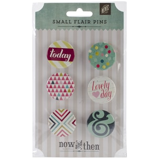 Now & Then Dorothy Flair Pins 6/Pkg -Lovely Day
