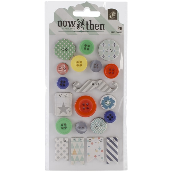 Now & Then Izzy Decorative Buttons-Dream Big