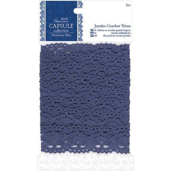 Papermania Parisienne Blue Jumbo Crochet Trim-