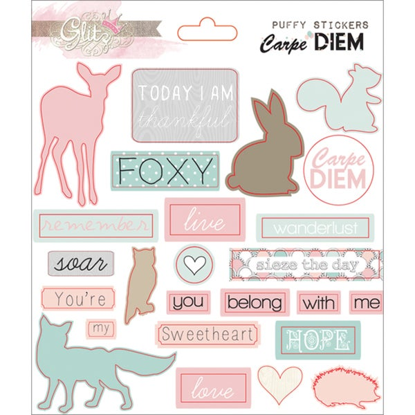 Carpe Diem Puffy Word Stickers
