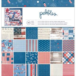 "Americana Paper Pad 12""X12"" 48/Sheets-24 Designs"