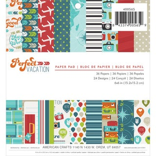 "Perfect Vacation Paper Pad 6""X6"" 36/Sheets-Single-Sided"