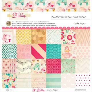 "Oh Darling Paper Pad 12""X12"" 48/Sheets-Single-Sided"