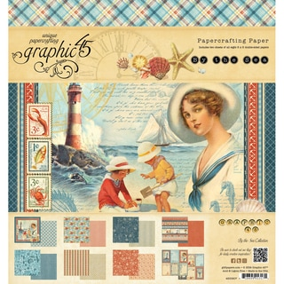 "By The Sea Double-Sided Paper Pad 8""X8""-24 Sheets - 8 Designs, 3 Each"